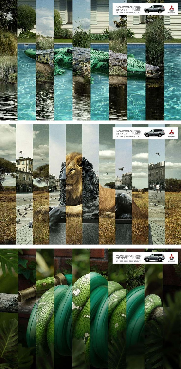 Creative-Advertising-Campagne-Voiture-Nature-vs-Ville Creative Advertising : Campagne - Voiture - Nature vs Ville