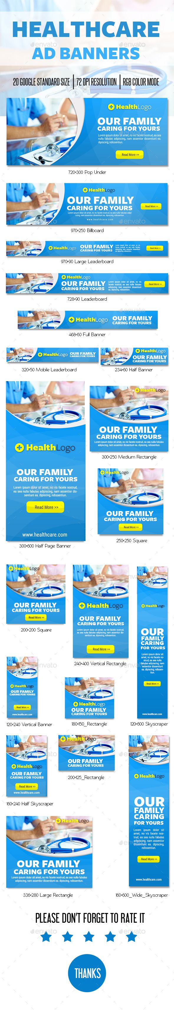 Healthcare Advertising : Healthcare Ad Banner — Photoshop