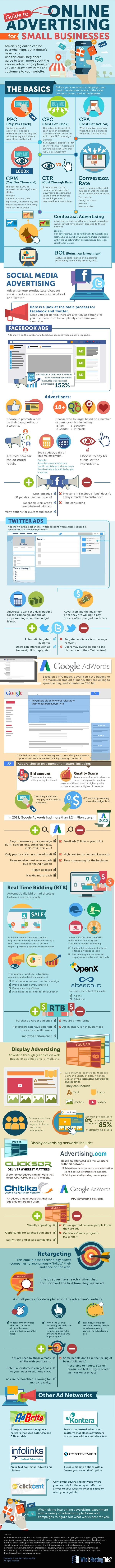 Marketing-Infographic-Guide-to-OnlineAdvertising-for-SmallBusinesses.-Advertising-online-can-be-ov Marketing Infographic : Guide to #OnlineAdvertising for #SmallBusinesses.  #Advertising online can be ov...