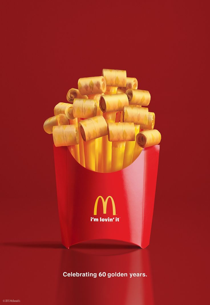 Print-Advertising-McDonald39s-Party-fries-Celebrating-60-delicious-years.-Advertising-Agency Advertising Campaign : McDonald's: Party fries Celebrating 60 delicious years. Advertising Agency: ...