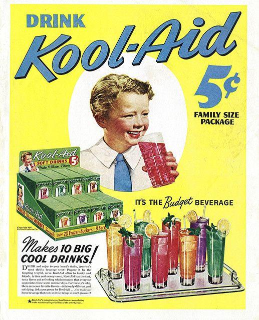 Vintage-Ads-1943-Kool-Aid-Advertisement-by-clotho98-via-Flickr Vintage Ads : 1943 Kool-Aid Advertisement by clotho98, via Flickr
