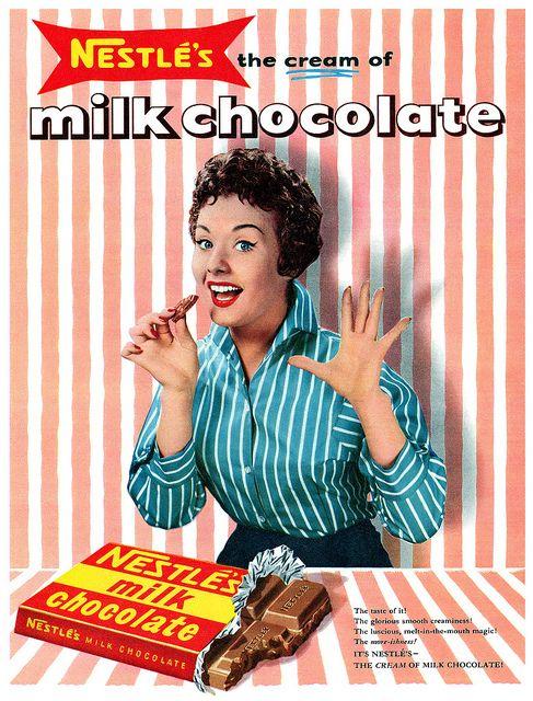 Vintage Ads : Nestlé's Milk Chocolate advertisement, October