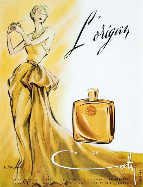 Vintage-Advertising-Publicité-du-parfum-L39Origant-de-Francois-Coty Vintage Advertising : Publicité du parfum L'Origant de Francois Coty