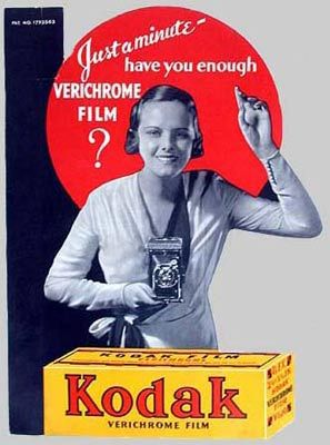 Vintage-Advertising-This-counter-card-from-the-1940s-shows-a-Kodak-Girl-reminding-shoppers-to-buy-fi Vintage Advertising : This counter card from the 1940s shows a Kodak Girl reminding shoppers to buy fi...