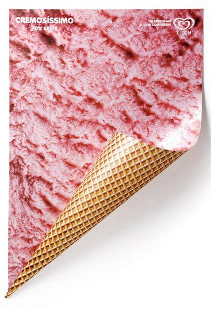 ba31cfed96f778868270dbf5386d5341--ice-cream-poster-dishcloth Advertising Campaign : この発想は斬新すぎる! わざと右下を留めないアイスク...