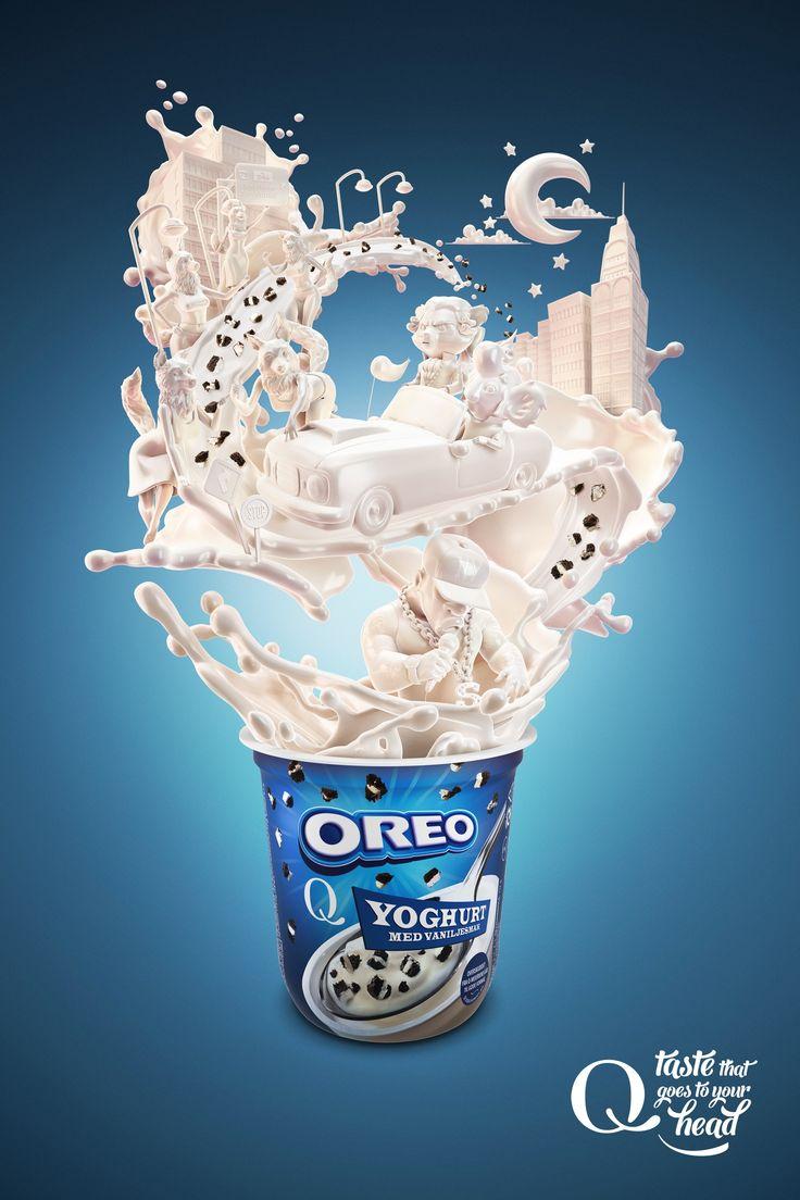 Advertising-Campaign-Q-Meieriene-Yogurt-The-Ride Print Advertising : Q Meieriene Yogurt: The Ride - MK Norway, Bergen, Norway