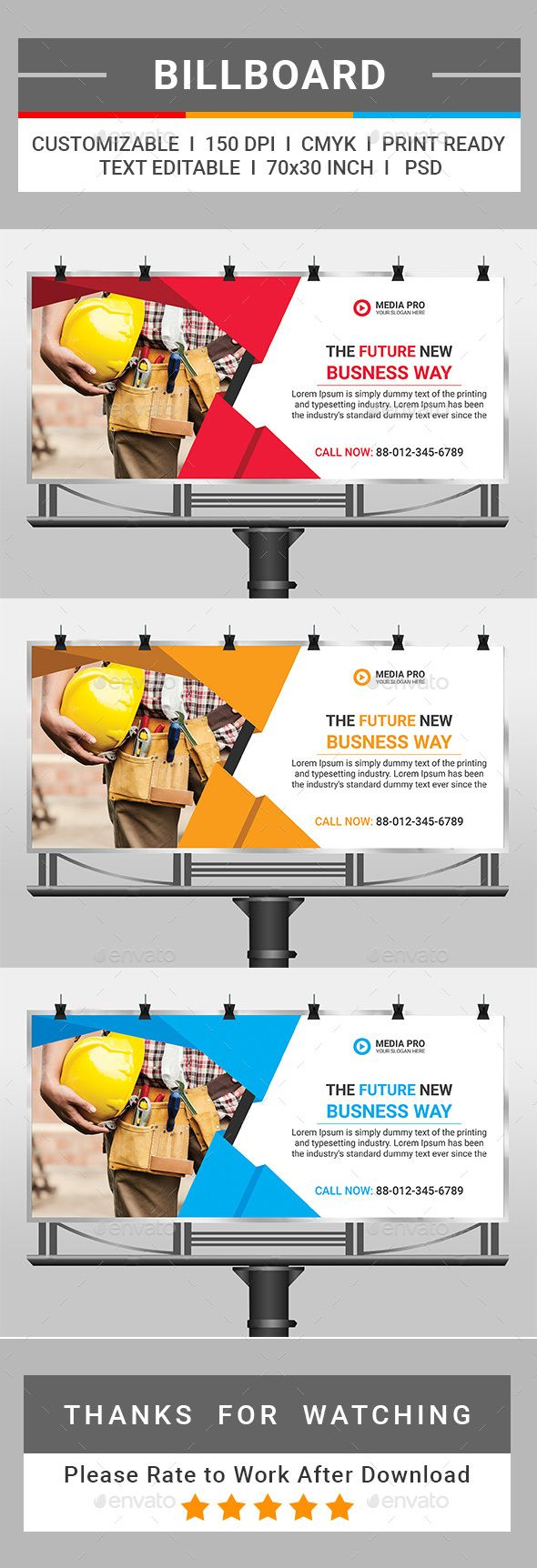 Healthcare-Advertising-Billboard-by-tauhid1989-This-is-a-Corporate-Billboard-Template.-This-template-do Healthcare Advertising : Billboard Template PSD