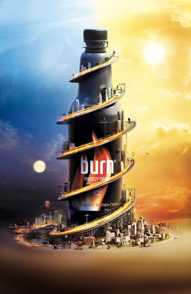 Print-Advertising-Burn-Energy-Drink-on-Behance Print Advertising : Burn - Energy Drink on Behance