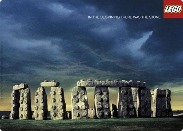 Print-Advertising-Lego-In-the-beginning-there-was-the-stone Print Advertising : #Lego - In the beginning there was the stone.