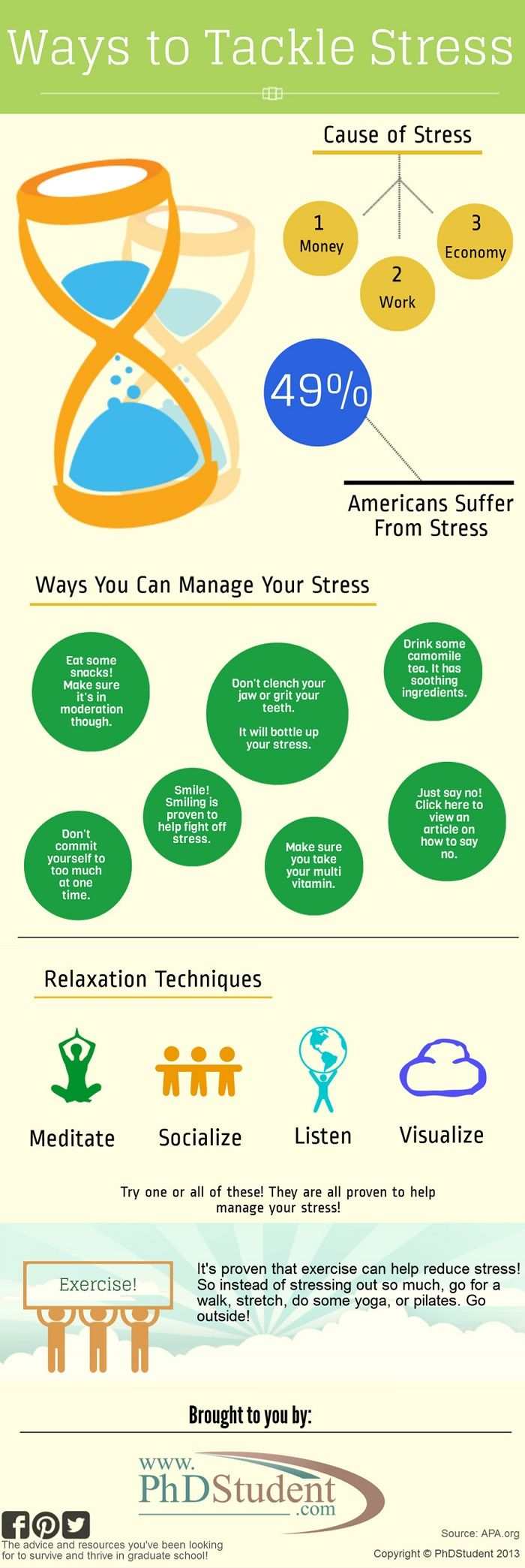 Psychology Infographic : Ways to Tackle Stress ...