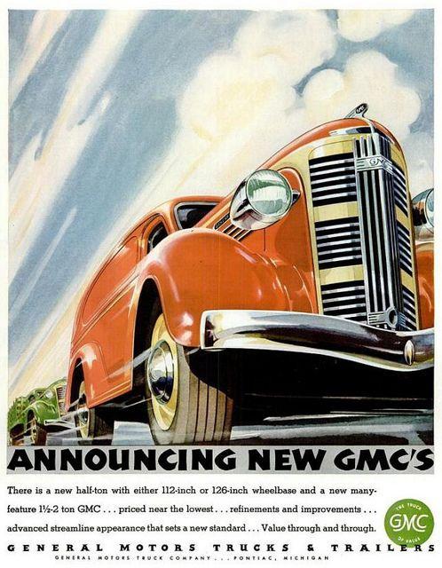 Vintage Ads Advert Gmc Motor Car Life Magazine Vol 1 No 1 1936