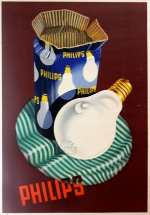 Vintage-Advertising-Philips-Light-Bulbs-1930s-original-vintage-poster-listed-on-AntikBar.co_.uk Vintage Advertising : Philips Light Bulbs, 1930s - original vintage poster listed on AntikBar.co.uk