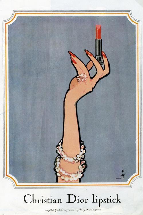 Vintage-Advertising-Rene-Gruau-for-Christian-Dior Vintage Advertising : Rene Gruau for Christian Dior