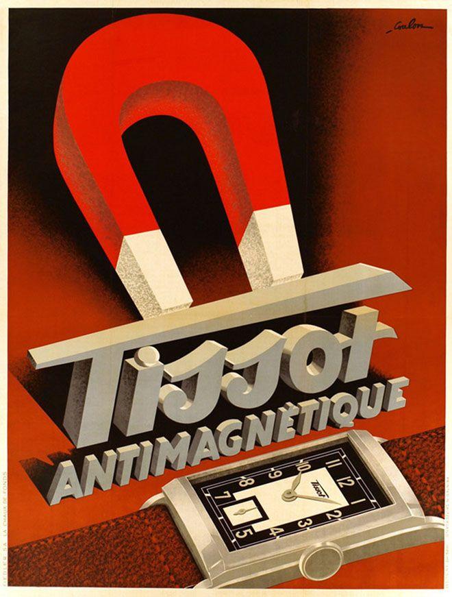 Vintage-Advertising-Tissot-antimagnétique-by-Eric-de-Coulon-circa-1930 Vintage Advertising : Tissot antimagnétique, by : Eric de Coulon, circa 1930