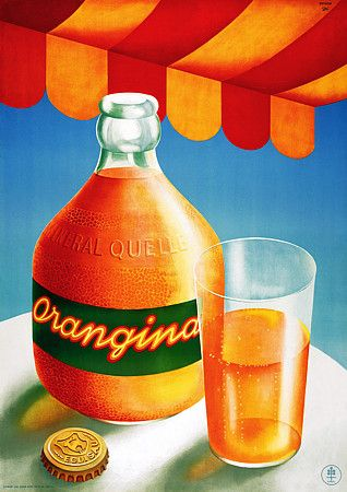 Vintage-Advertising-Vintage-1942-Orangina-poster Vintage Advertising : Vintage (1942) Orangina poster