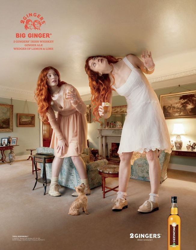 Advertising-Campaign-2-Gingers-Irish-Whiskey-Finds-the-Perfect-Ad-Characters-to-Act-Out-Famous-Drink Advertising Campaign : 2 Gingers Irish Whiskey Finds the Perfect Ad Characters to Act Out Famous Drink ...
