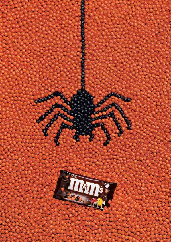 Halloween Creative Ads.Advertising Campaign M M S Halloween Outdoor By