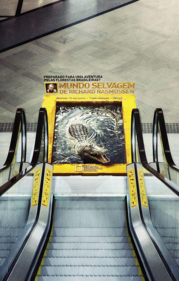 Advertising-Campaign-NatGeo-Mundo-Selvagem-by-Miagui-Imagevertising-via-Behance Advertising Campaign : NatGeo - Mundo Selvagem by Miagui Imagevertising, via Behance
