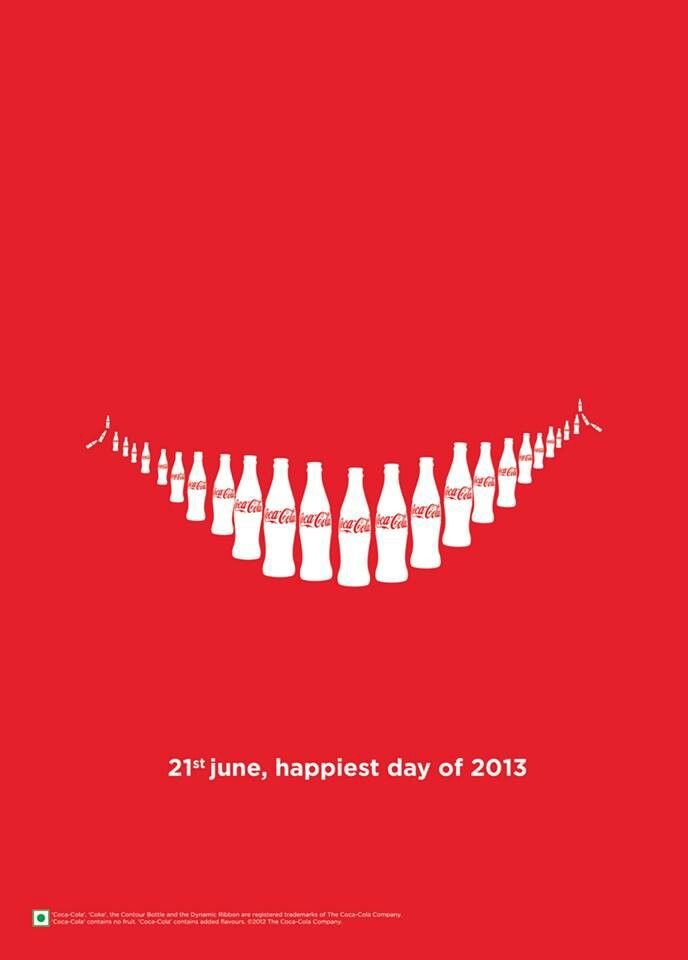 Advertising-Campaign-This-Coke-advertisement-uses-contrast-white-and-red-color-and-repetition-repe Print Advertising : *gestalt principle - smile using coke bottles