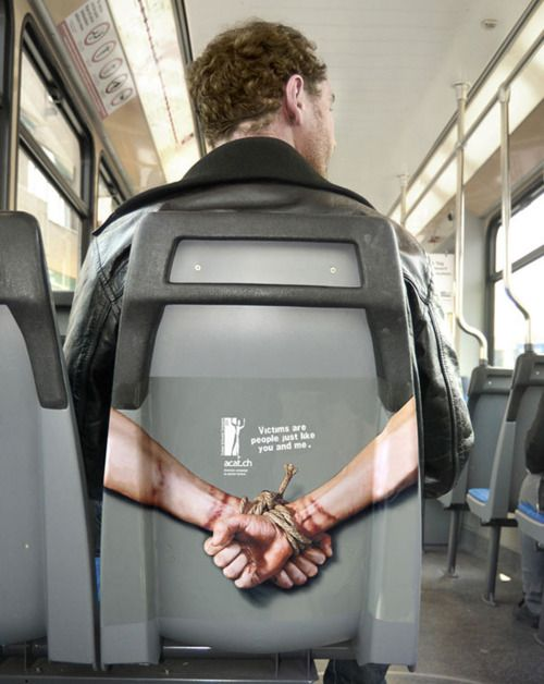 "Advertising-Campaign-Victims-are-people-just-like-you-and-me-bus-humanitarian-ads-advertising-w Advertising Campaign : ""Victims are people just like you and me"" #bus #humanitarian #ads #advertising w..."