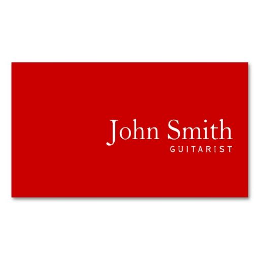 Psychology-Infographic-Simple-Plain-Red-Guitarist-Business-Card.-This-great-business-card-design-is-ava Psychology Infographic : Simple Plain Red Guitarist Business Card. This great business card design is ava...