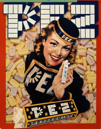 Vintage Advertising : 1930s vintage ad for Pez candy