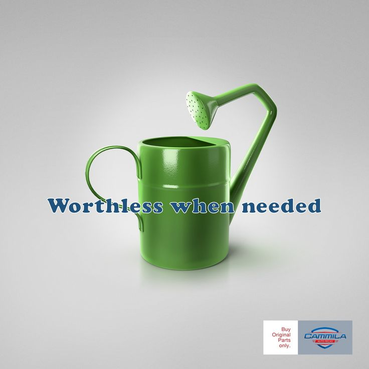 "1537745196_250_Advertising-Campaign-Cammila-Auto-Parts-Watering-can-""Worthless-when-needed.-Buy-original-parts-o Advertising Campaign : Cammila Auto Parts: Watering can  ""Worthless when needed. Buy original parts o..."