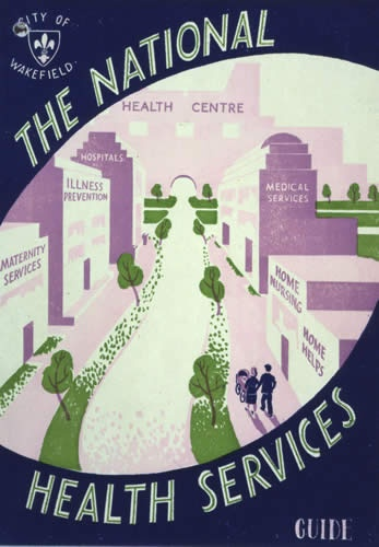 Healthcare-Advertising-National-Health-Services-guidebook-cover-Wakefield-West-Yorkshire-1950s Healthcare Advertising : National Health Services guidebook cover, Wakefield, West Yorkshire, 1950s. If y...
