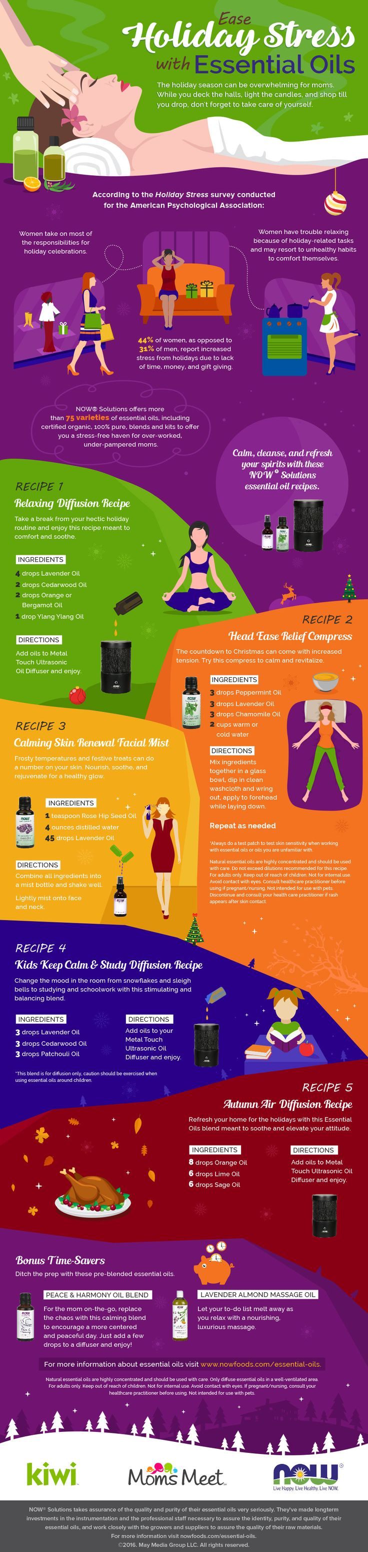 Psychology-Infographic-Infographic-Ease-Stress-with-Essential-Oils Psychology Infographic : Infographic: Ease Stress with Essential Oils