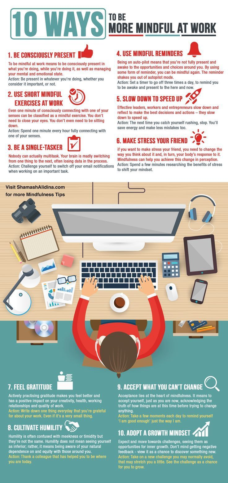 Psychology Infographic : Stop Stressing At Work! Embrace