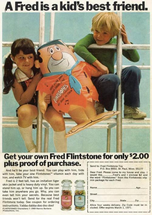 Advertising-Inspiration-A-Fred-is-a-kid's-best-friend.-Flintstones-vitamins Advertising Inspiration : A Fred is a kid's best friend. - Flintstones vitamins...