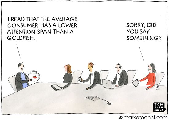 """Healthcare-Advertising-Attention-Span-cartoon-In-2000-the-attention-span-of-the-modern-consumer-wa Healthcare Advertising : """"Attention Span"""" cartoon - In 2000, the attention span of the modern consumer wa..."""