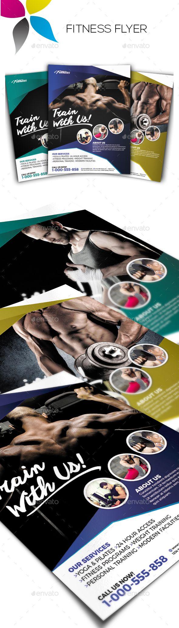 Healthcare-Advertising-Fitness-Flyer-by-inddesigner-A4-210x297mm-US-Letter-8.5x11in-Bleed-5-mm-Adobe-Ph Healthcare Advertising : Fitness Flyer by inddesigner A4 210x297mm US Letter 8.5x11in Bleed 5 mm Adobe Ph...