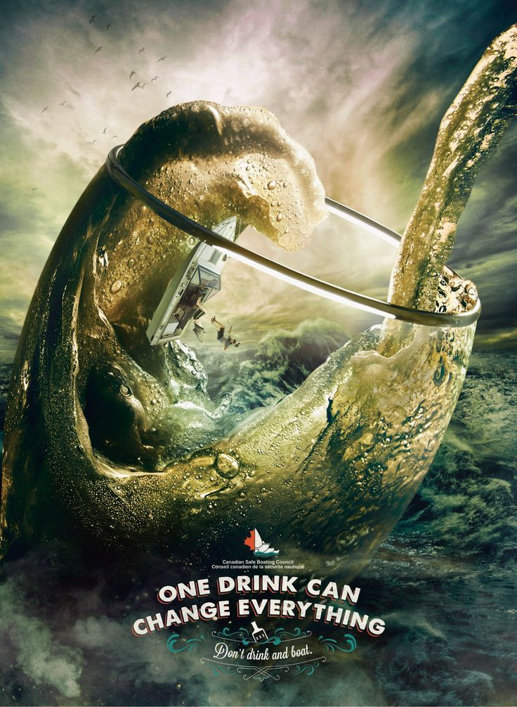 Healthcare-Advertising-Advertising-Campaign-Canadian-Boaters-Safety-Council-Glass-ads-adv-marke Healthcare Advertising : «Canadian Boaters Safety Council: One drink can change everything. Don't dr
