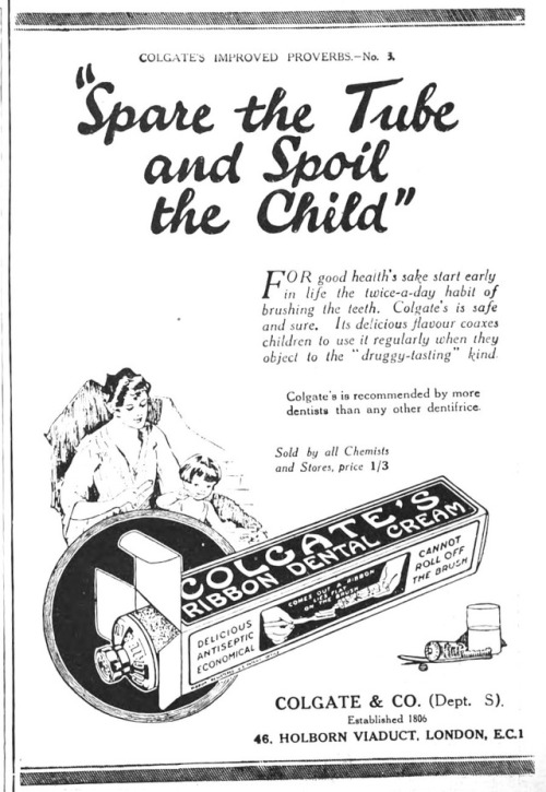 """Advertising-Inspiration-""""Spare-the-Tube-and-Spoil-the-Child"""" Advertising Inspiration : """"Spare the Tube and Spoil the Child"""" /..."""