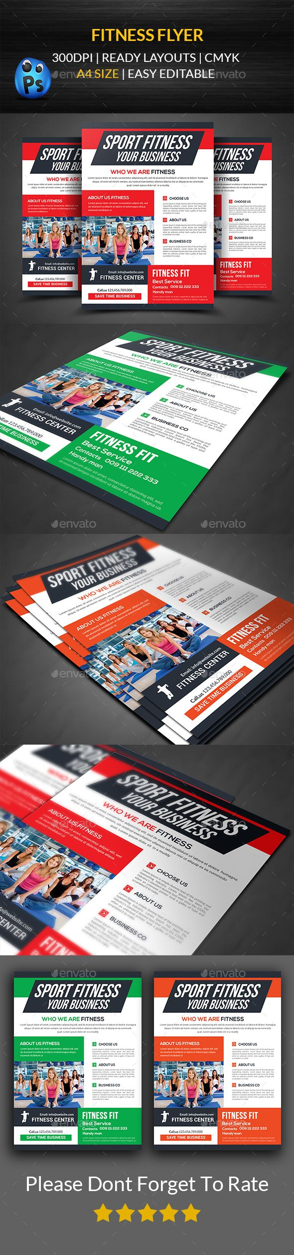 Healthcare-Advertising-Fitness-Flyer-Template-PSD-design-Download-graphicriver.net Healthcare Advertising : Fitness Flyer Template PSD #design Download: graphicriver.net/...