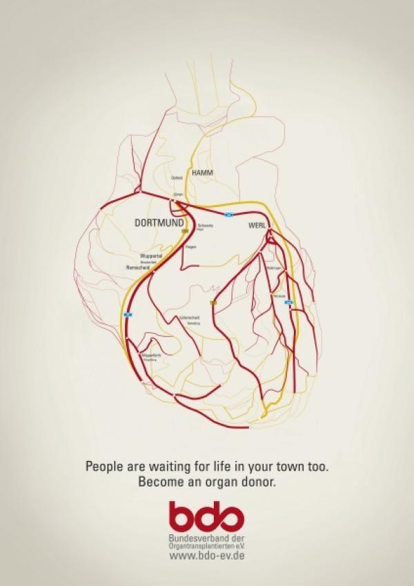 "Healthcare-Advertising-Organ-Donation-Appeal-HEART-Outdoor-Advert-by-Kolle-Rebbe-Werbeagentur Healthcare Advertising : Organ Donation Appeal: ""HEART"" Outdoor Advert by Kolle Rebbe Werbeagentur"