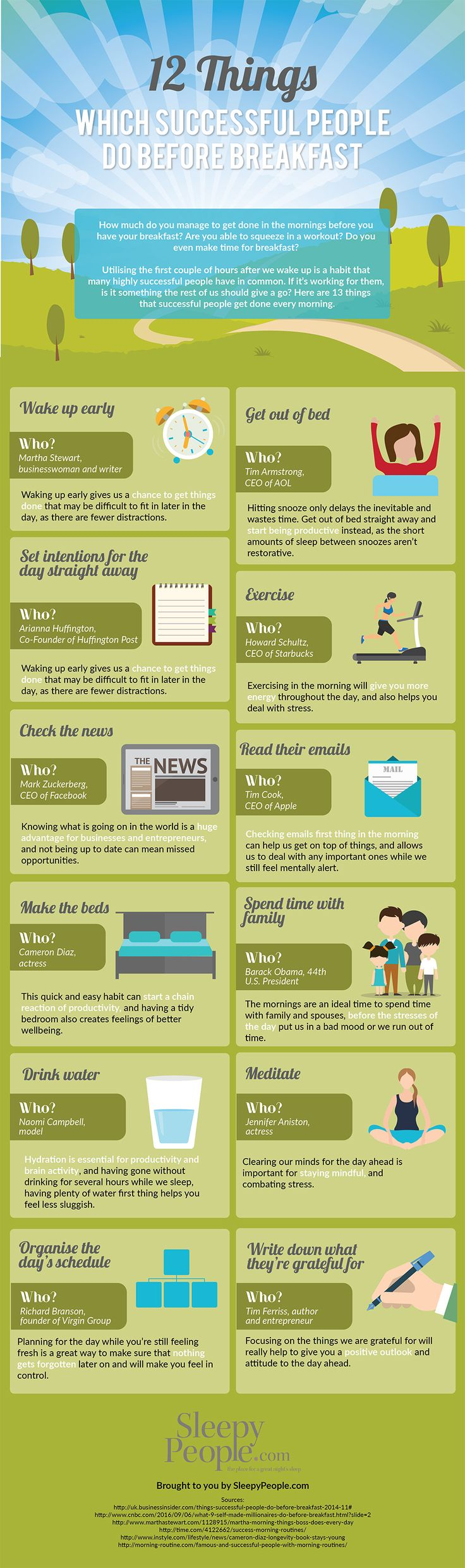 Psychology-Infographic-12-Things-Successful-People-Do-Before-Breakfast-Infographic Psychology Infographic : 12 Things Successful People Do Before Breakfast #Infographic #Business #Startup ...