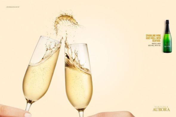 Advertising-Campaign-Aurora-Wines-Harmonizing-Sparkling.-Montagem-genial-uma-boa-idéia-é-o-produ Advertising Campaign : Aurora Wines: Harmonizing, Sparkling. Montagem genial, uma boa idéia é o produ...