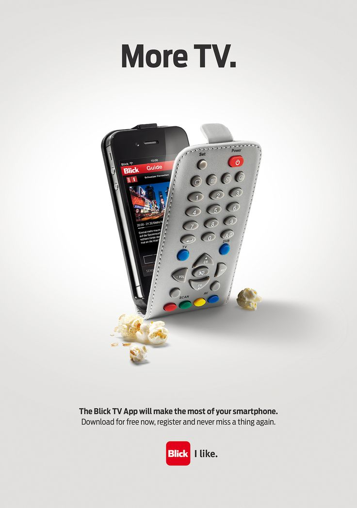 Advertising-Campaign-More-TV.-The-Blick-TV-App-will-make-the-most-of-your-smartphone Advertising Campaign : More TV. The Blick TV App will make the most of your smartphone.