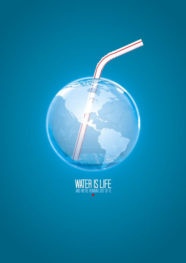 Advertising-Campaign-Water-is-Life-Posters-by-Mauricio-Thomsen-via-Behance Advertising Campaign : Water is Life Posters by Mauricio Thomsen, via Behance