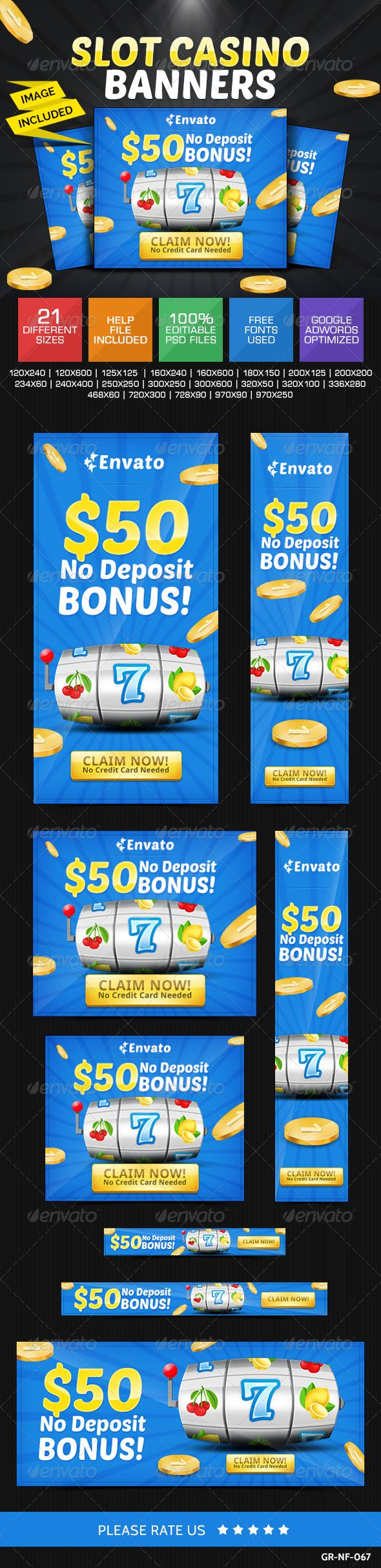 Advertising Infographics : Casino Web Banners Template PSD
