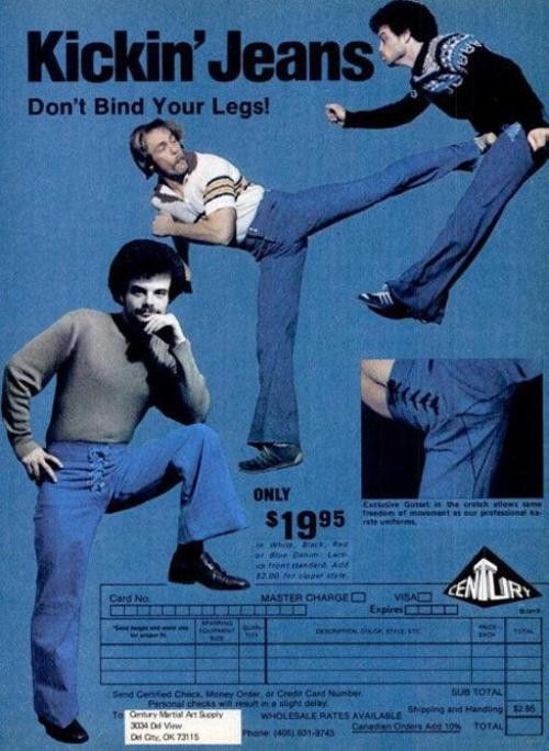 Advertising-Inspiration-Kickin'-Jeans-1970s Advertising Inspiration : Kickin' Jeans (1970s)