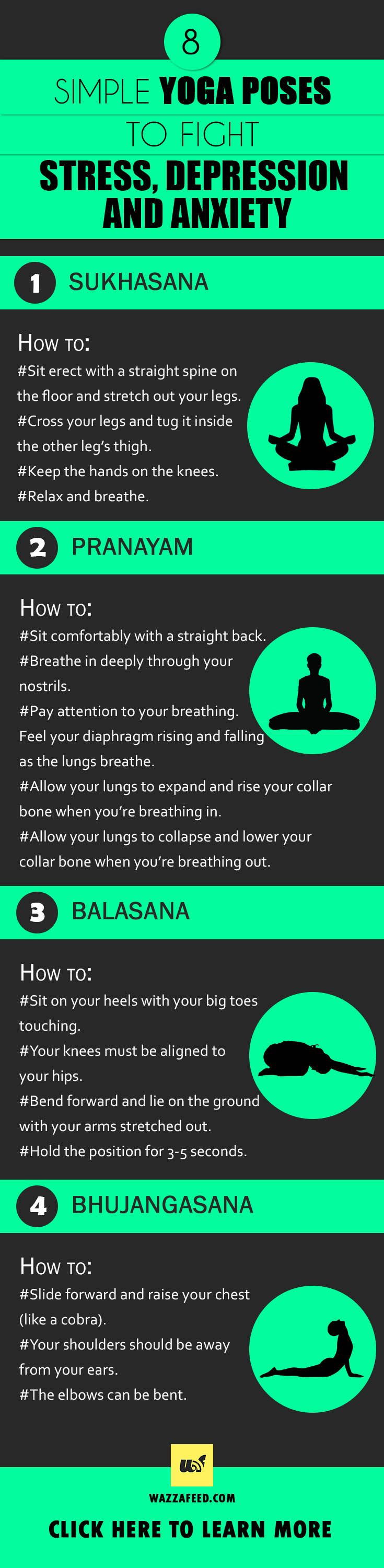 Psychology-Infographic-8-Yoga-Poses-To-Fight-Stress-Depression-and-Anxiety Psychology Infographic : 8 Yoga Poses To Fight Stress, Depression and Anxiety