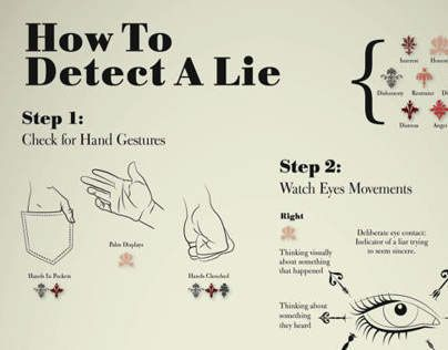 """Psychology-Infographic-Check-out-this-@Behance-project-""""How-To-Detect-A-Lie-Infographic""""-www.behan Psychology Infographic : How To Detect A Lie, Infographic Project for Information Design Class, August 20..."""