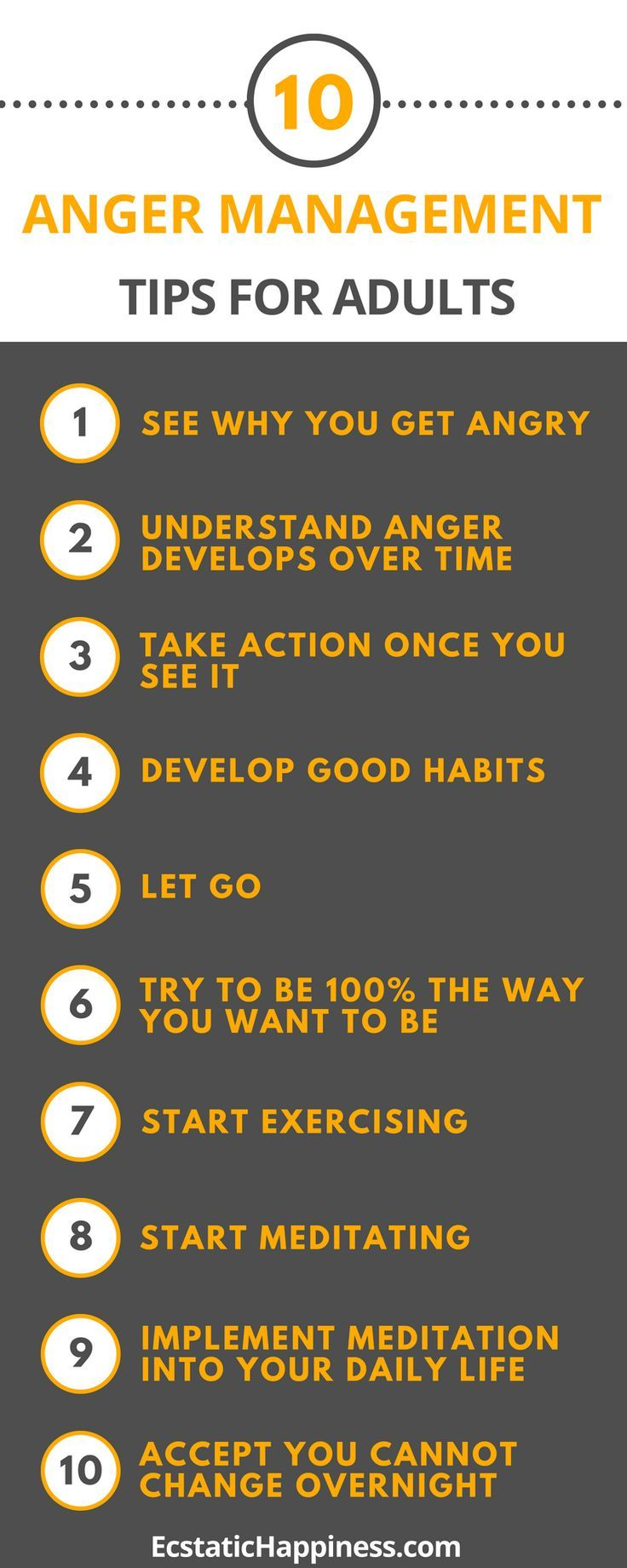 Psychology Infographic : Read these 10 Anger management
