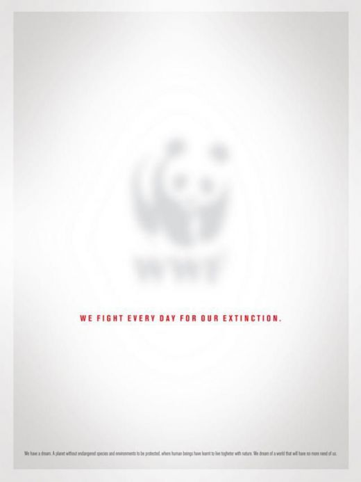 Advertising-Campaign-WWF-Conservation-Poster-Pandas-are-disappearing Advertising Campaign : WWF Conservation Poster: Pandas are disappearing