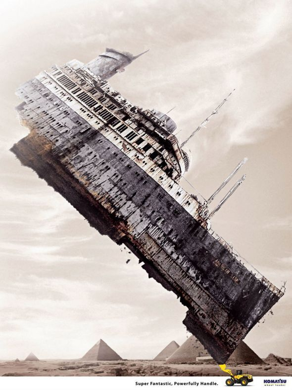 Advertising-Campaign-Komatsu-wheel-loader-Titanic-Ads-of-the-World™ Advertising Campaign : Komatsu wheel loader: Titanic | Ads of the World™