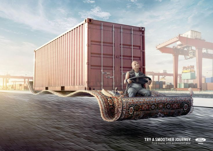 021cb5d005f7274a5e51cfe5f93523e6--creative-advertising-print-ads Advertising Campaign : Case: Flying Carpet, Balloons, Cloud フォードの商用車ブランド・フ...