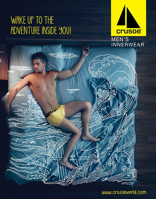 1556159813_772_Print-Advertising-notitle Creative Advertising : Crusoe Men's Innerwear Campaign on Behance